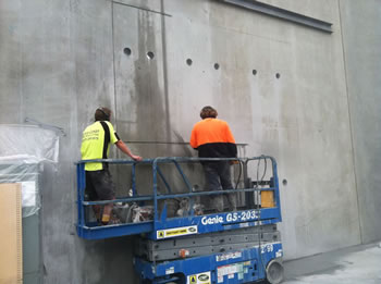 Cutting three openings in tilt panel wall